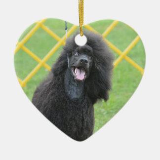 Black Poodle Christmas Tree Ornaments