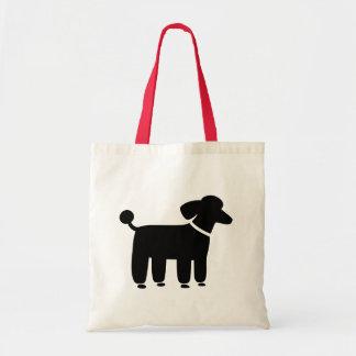 Black Poodle Dog Graphic Tote Bag