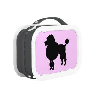 Black poodle dog lunch box