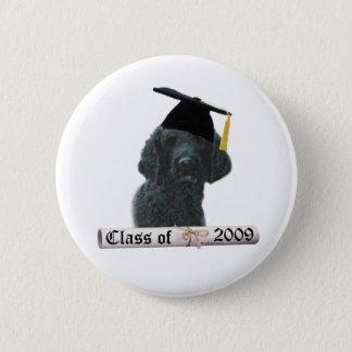 Black Poodle Grad 09 Button