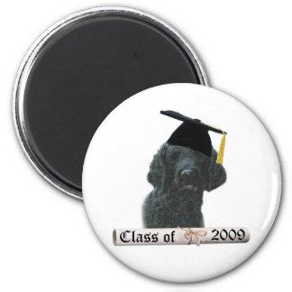 Black Poodle Grad 09 Refrigerator Magnet