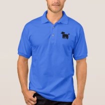 Black Poodle Graphic Polo Shirt
