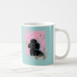 Black Poodle Hummingbirds Art Mug Cup