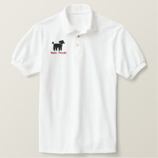 Black Poodle Logo with Custom Text & Color Embroidered Shirt