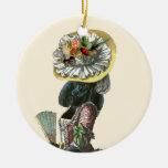 Black Poodle Marie Antoinette Christmas Ornament