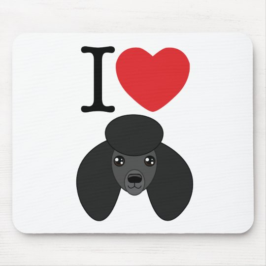 Black Poodle Mousepad