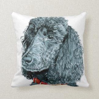 Black Poodle Pillows