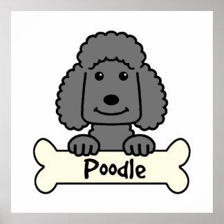 Black Poodle Poster
