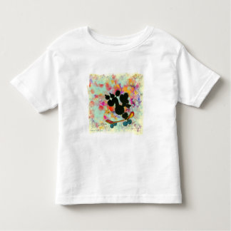 Black Poodle Skateboard Art Print Toddler T-shirt