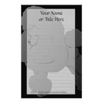 Black Poodle Stationery