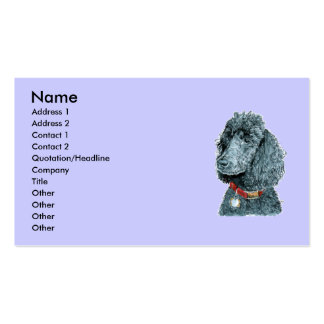 Black Poodle Whitney  Business Cards