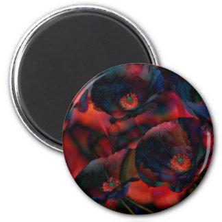 Black Poppies Magnet