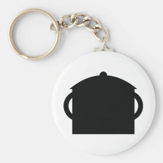 black pot keychain