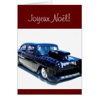Black POW custom classic car Card