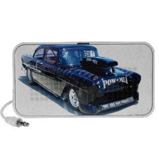 Black POW custom classic car Mp3 Speakers