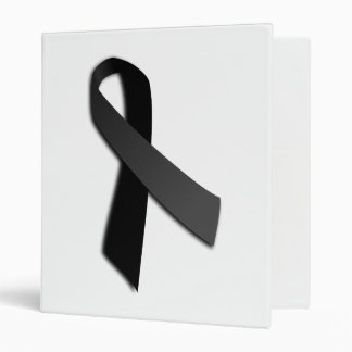 Black POW MIA Rememrance Awareness Ribbon Binder