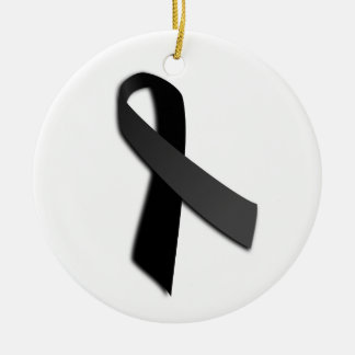 Black POW MIA Rememrance Awareness Ribbon Ornaments