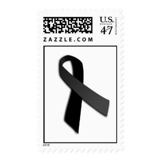 Black POW MIA Rememrance Awareness Ribbon Postage Stamp