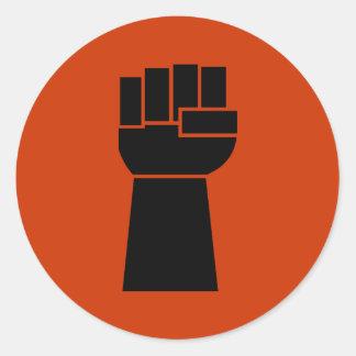Black Power Black Fist Obama Stickers