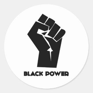 Black Power Classic Round Sticker