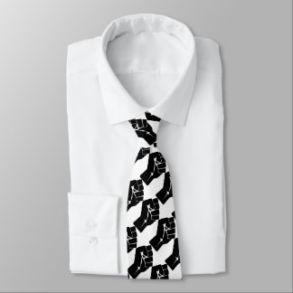 Black Power Fist Fashion Tie