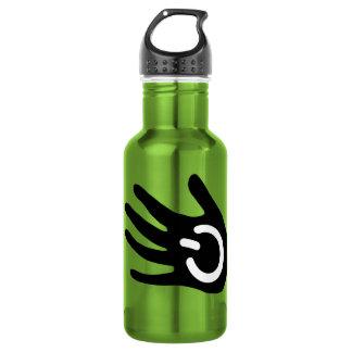 Black Power Hand 18oz Water Bottle