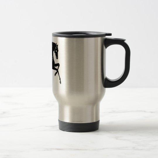Black Prancing Horse Travel Mug