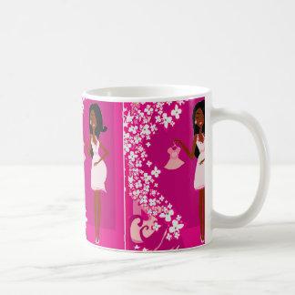 black pregnant woman classic white coffee mug