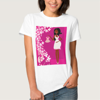 black pregnant woman tshirts