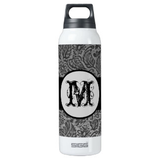 Black Pressed Leather Monogram SIGG Thermo 0.5L Insulated Bottle