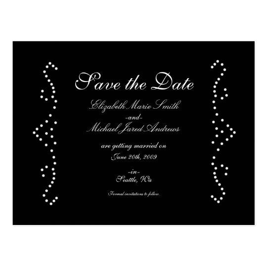 Black Princess Save the Date Postcard