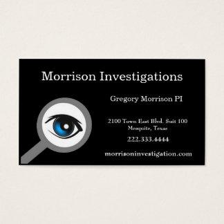 Black Private Investigation Business Card