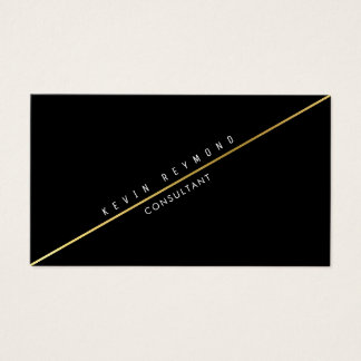 black pro business card with diagonal gold line