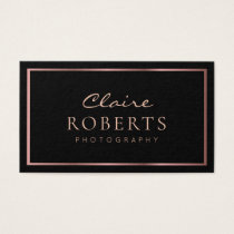 black professional business card