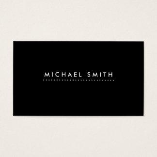 Black Professional Elegant Modern Plain Simple Business Card