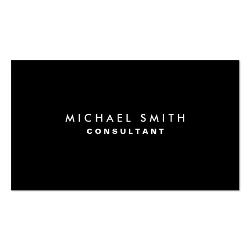 Black Professional Elegant Modern Plain Simple Business Card Template
