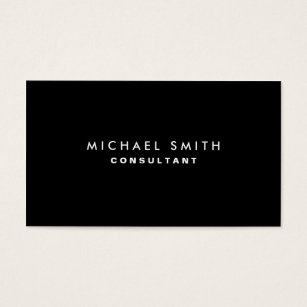 Accounting business cards templates zazzle black professional elegant modern plain simple business card fbccfo Image collections