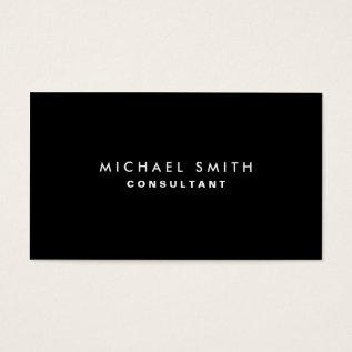 Black Professional Elegant Modern Plain Simple Business Card at Zazzle