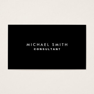 Black Professional Elegant Modern Plain Simple Business Card