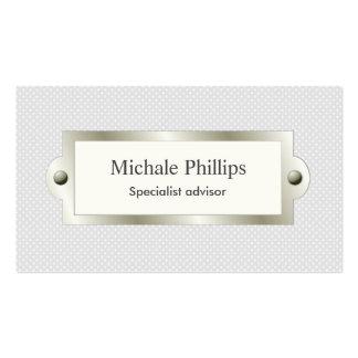 Black professional elegant window vintage metal business card