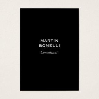 Black Professional Modern Elegant Minimalist Business Card