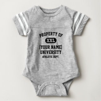Black Property of [Your Name] University Funny Infant Bodysuit