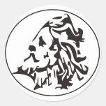 black proteus round sticker