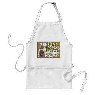 Black,proud,and Flyy image Adult Apron