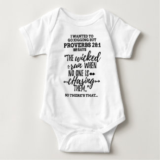 Black Proverbs 28 1 Wanted to Go Jogging but Lazy Baby Bodysuit