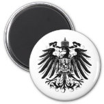 Black Prussian Eagle 2 Inch Round Magnet