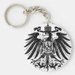 Black Prussian Eagle Basic Round Button Keychain