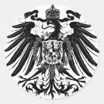 Black Prussian Eagle Classic Round Sticker