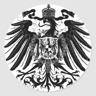 Black Prussian Eagle Round Stickers