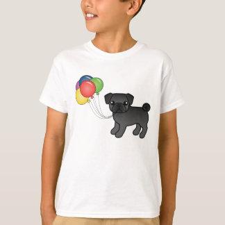 Black Pug Birthday Balloons Dog T-Shirt